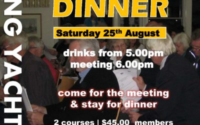 AGM & Dinner Saturday 25th August 2018